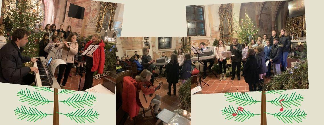 Otroški pevski zbor z božičnim koncertom